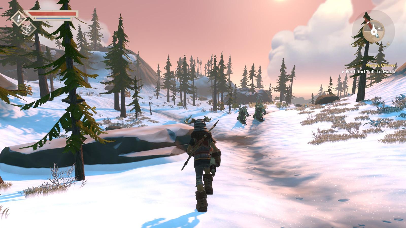 Screenshot uit de game 'Pine'.