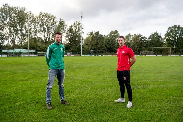 Supporters mogen dan ontbreken, de passie op het veld zal er zeker zijn bij de derby SVVN - DES. Voor SVVN-aanvoerder Alwin Zigterman (links) en DES-