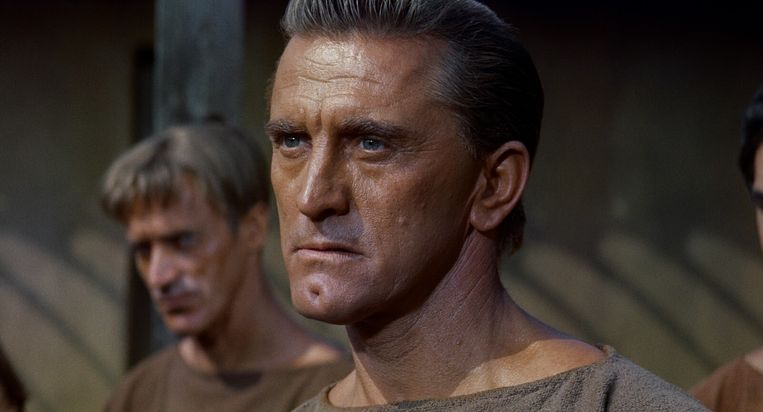 Kirk Douglas in Spartacus (Stanley Kubrick, 1960).  Beeld