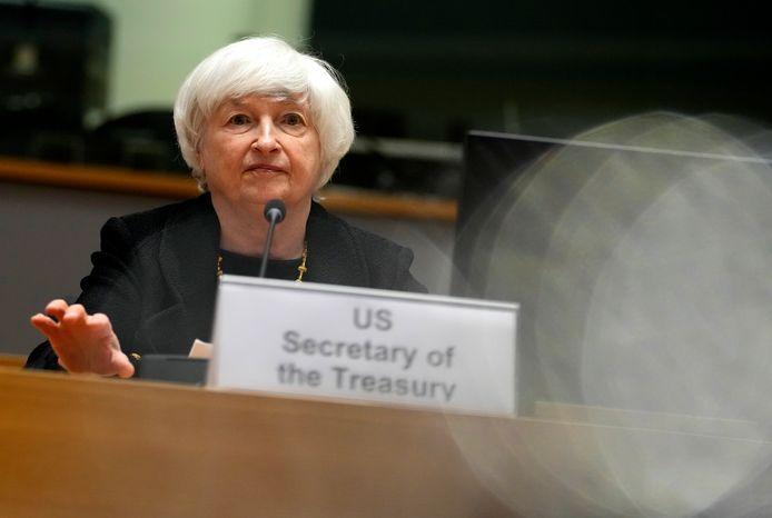 Amerikaans minister van Financiën Janet Yellen.