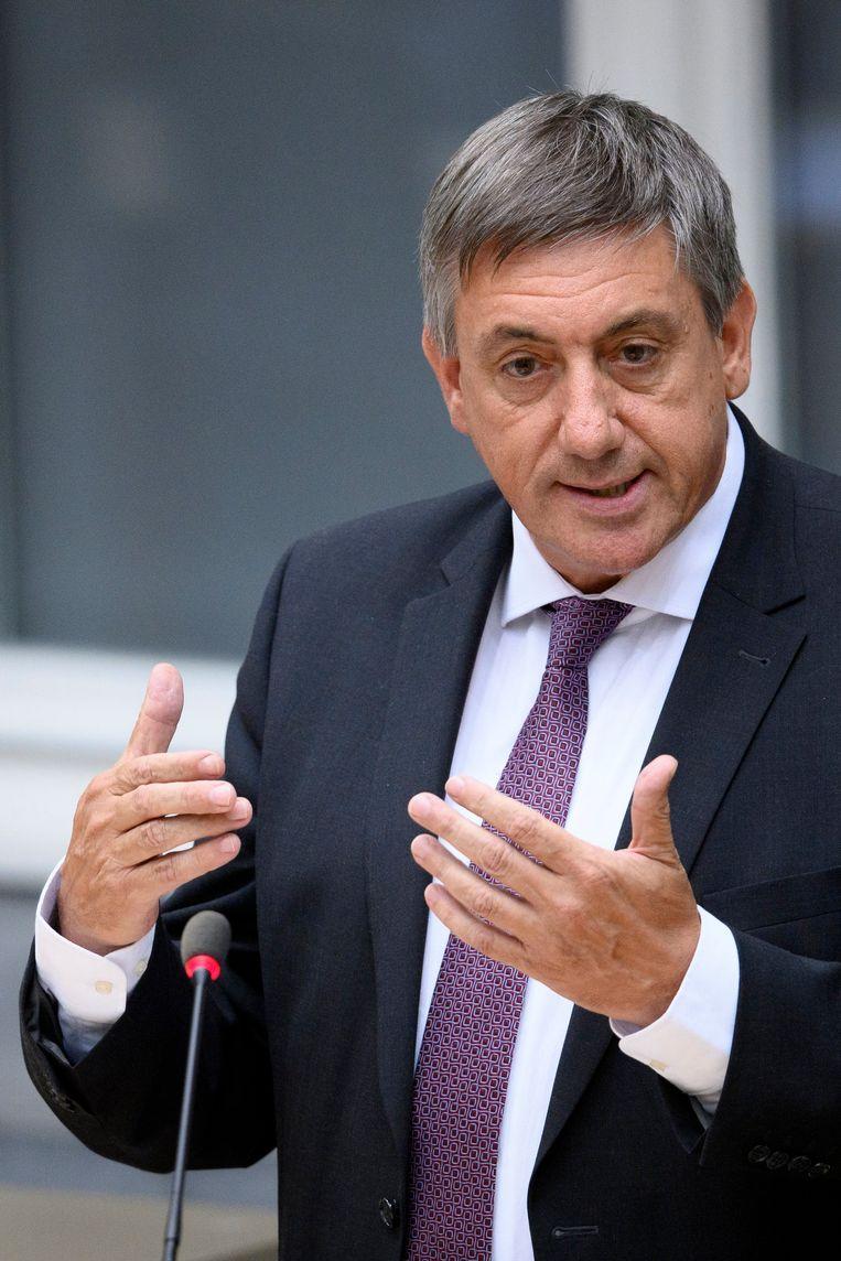 Vlaams minister-president (N-VA) Jan Jambon kreeg na de terreurcrisis in 2016 nu de coronacrisis op zijn bord. Beeld Photo News