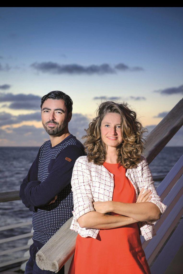 Meyer en Sharon Gesthuizen in 2015, als kandidaat-partijvoorzitters. Beeld Margot de Heide / SP