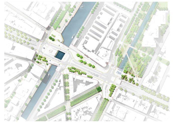 Grondplan van het project