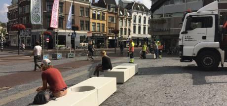 Betonblokken op Neude tegen terroristische aanslagen