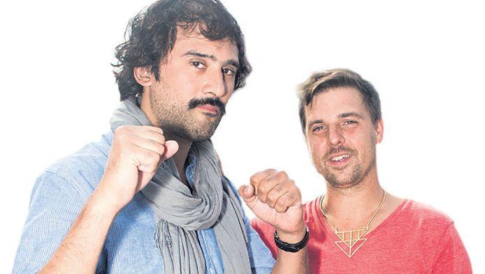 Christiaan Fruneaux (links) en Joost Janmaat willen hun vriendschap in een akte vastleggen.