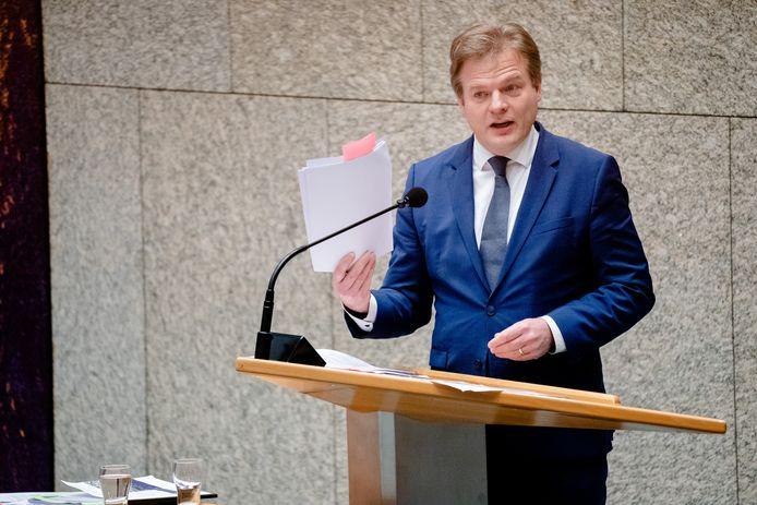 Pieter Omtzigt (CDA) tijdens een debat over de toeslagenaffaire.