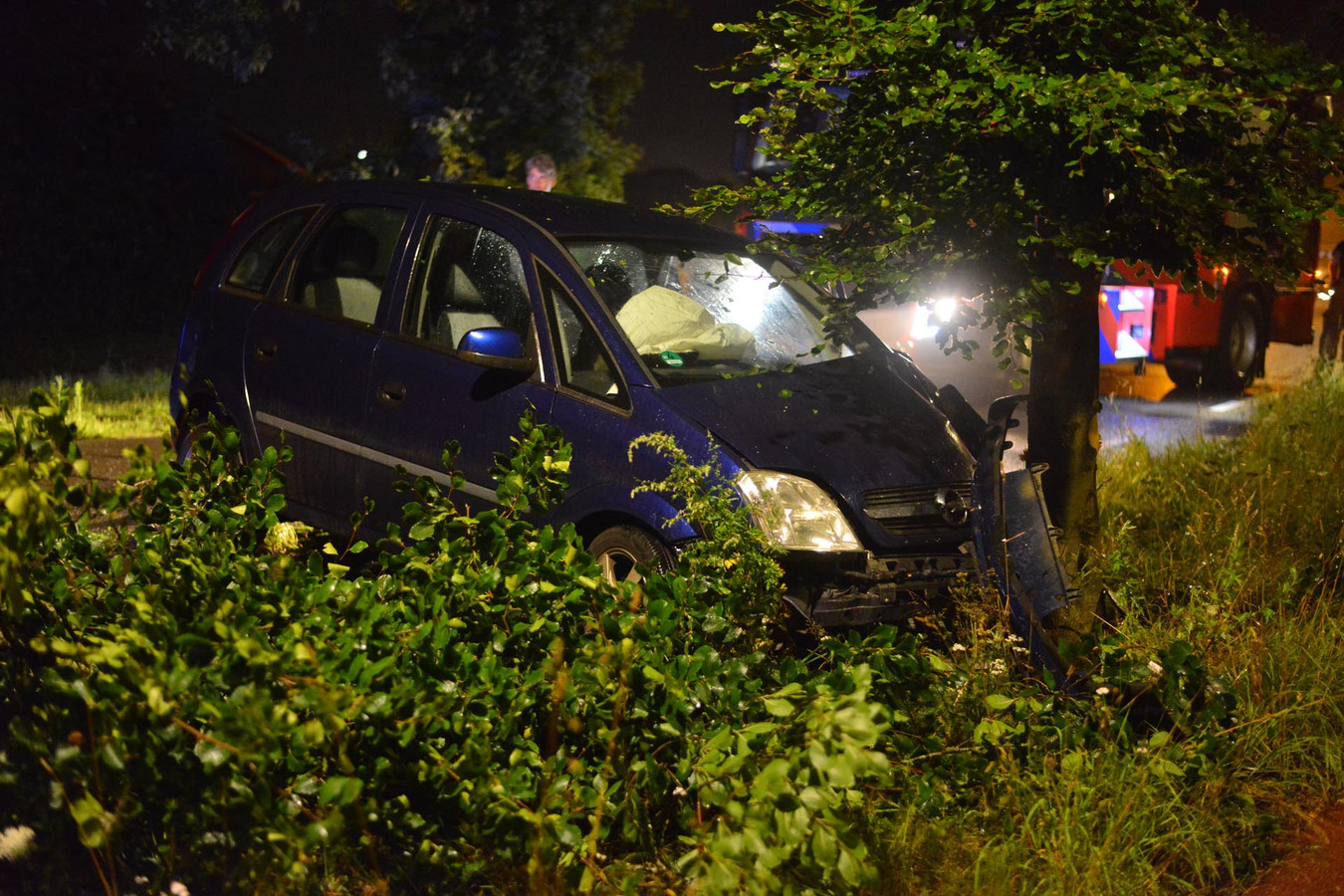 De vrouw botste tegen een boom aan de Leursebaan in Breda.
