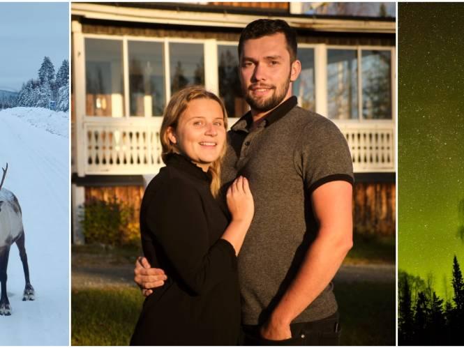 """Eline (25) en Simon (25) beginnen nieuw leven in Lapland: """"20 graden onder nul in de winter? De nieuwsgierige rendieren elke ochtend maken alles goed"""""""