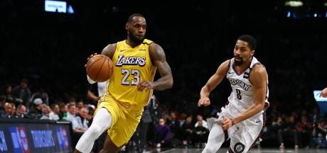 LeBron James leidt Lakers langs Brooklyn Nets
