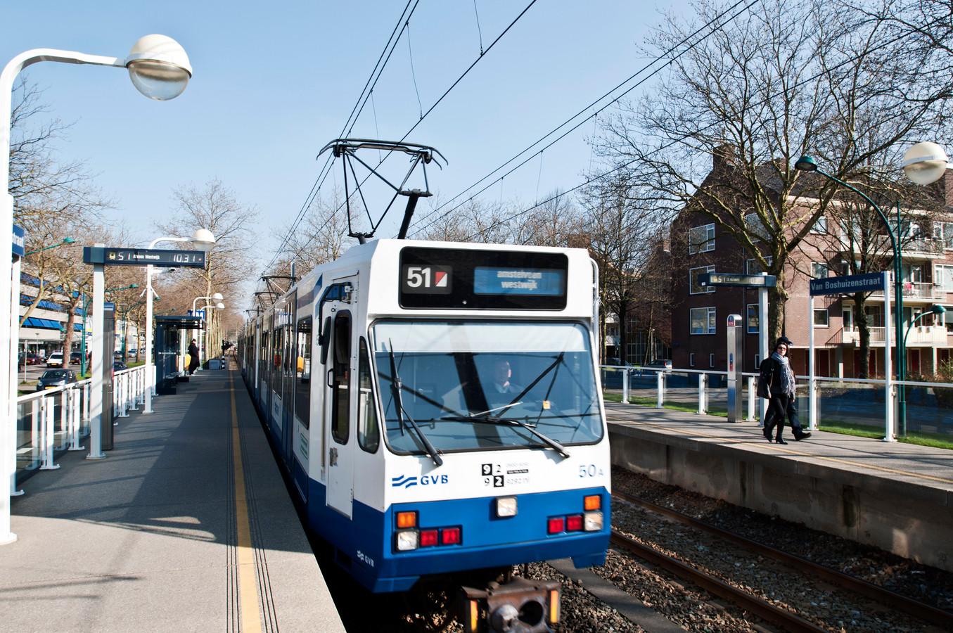 De oude metro 51 richting Amstelveen Westwijk.
