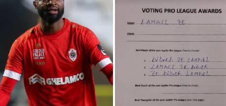 """Didier Lamkel Ze vote trois fois pour lui-même pour le """"Footballeur pro de l'année"""""""