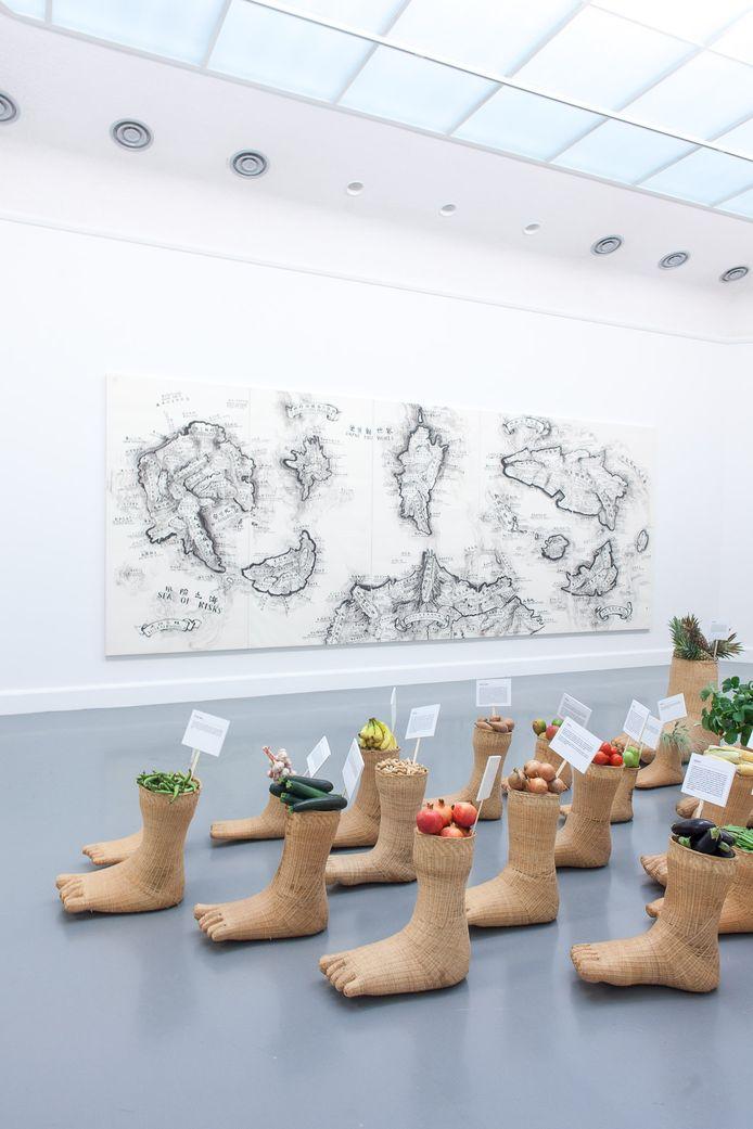 Werk van Qiu Zhijie in het Van Abbemuseum.