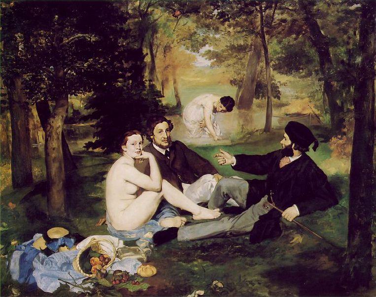 'Le déjeuner sur l'herbe' Beeld Edouard Manet (1832-1883)