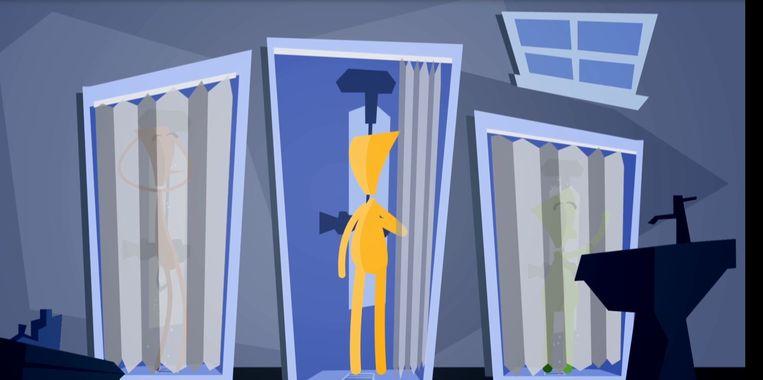 Een beeld uit een van de filmpjes voor nieuwkomers. Beeld rv