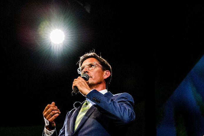 Joost Eerdmans, wethouder namens Leefbaar Rotterdam, tijdens de bijeenkomst met Forum voor Democratie.