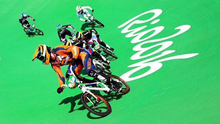 De olympische finale in Rio de Janeiro. Jelle van Gorkom wint zilver. Beeld null