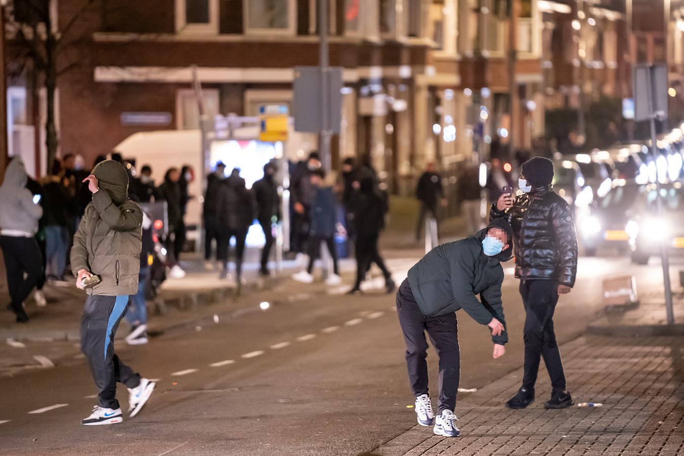 De rellen op de Beijerlandselaan in Rotterdam van 25 januari.