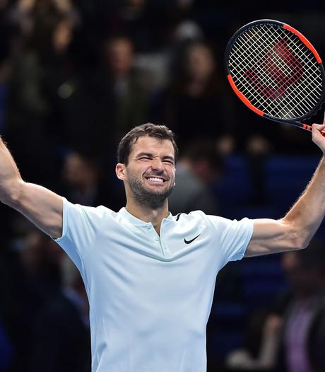 Dimitrov sluit groepsfase ATP Finals winnend af