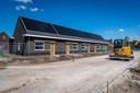 Bouw van de sociale huurwoningen bij Beekse Akkers in Beek en Donk.