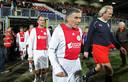 Frank de Boer en Sjaak Swart in 2009 met oud-Ajacieden tegen Haarlem, in een poging om de club van faillissement te redden.