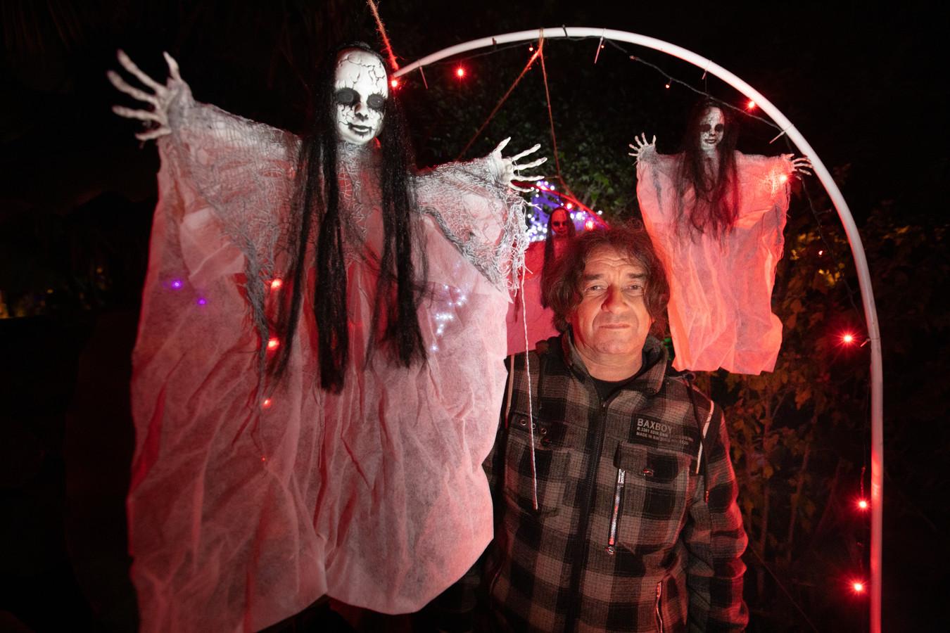 Halloweentuin in Hasselt.