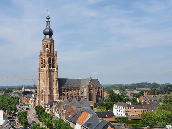 Een zicht vanop de toren van het Klein Seminarie.