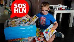 SOS HLN. Thor (7) heeft hersenafwijking en enige wat hem echt troost zijn kaartjes. Stuur jij hem eentje voor zijn communie?