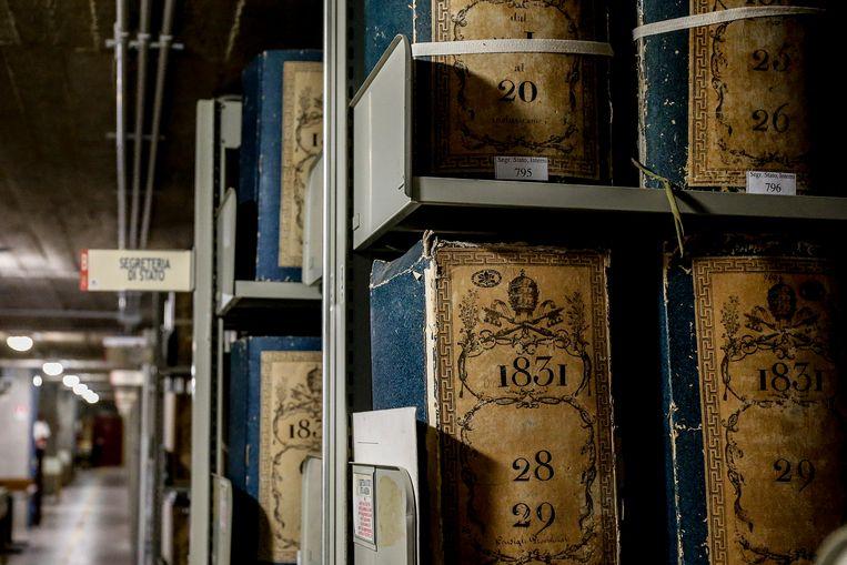 Het archief van het Vaticaan Beeld EPA