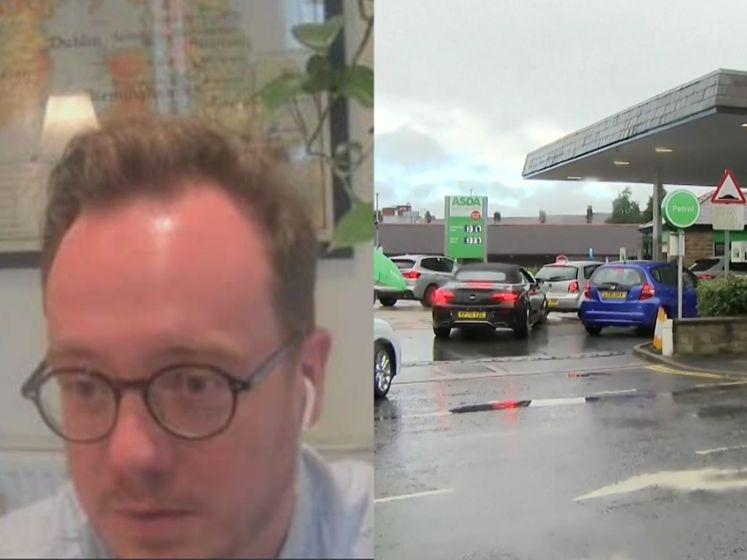 """""""Voltanken mag nu niet"""": Ook Vlaming in Londen moet aanschuiven aan het tankstation"""