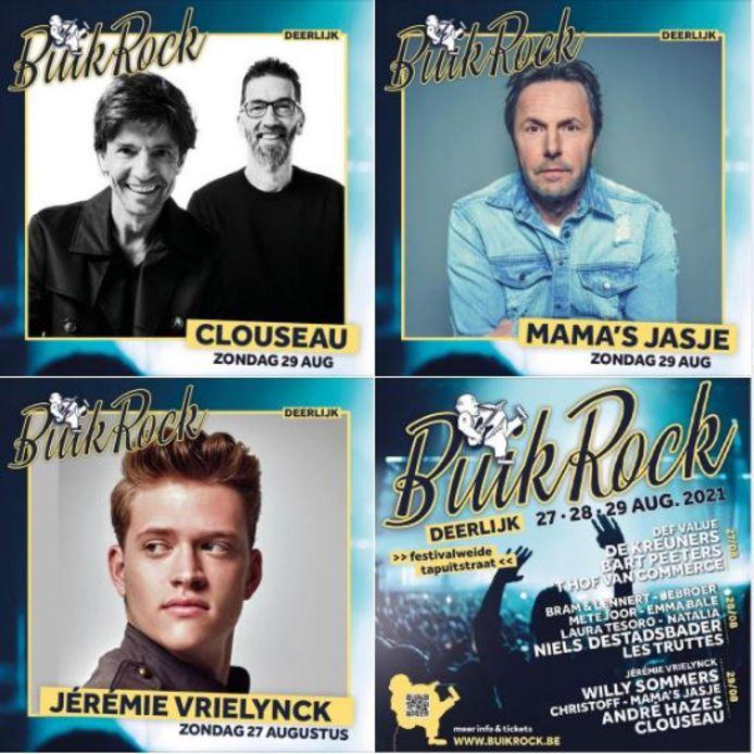 De affiche van BuikRock telt enkele grote namen.