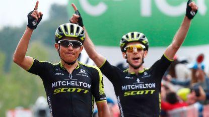 Mitchelton-Scott voert op de flanken van de Etna een nummertje op: Chaves wint de rit, Yates pakt roze leiderstrui
