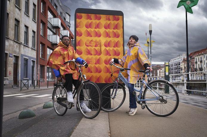 Bruxelles Mobilité et mortierbrigade donnent envie de rouler à vélo sous la pluie.