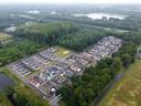 Woonwagencentrum Teersdijk in Nijmegen, aan de rand van de wijk Tolhuis.