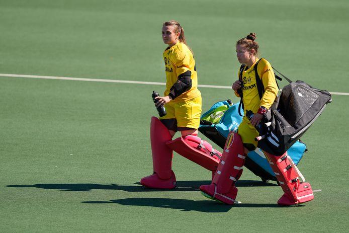 Elena Sotgiu en Elodie Picard: zoals steeds zij aan zij, op het EK in Amstelveen.