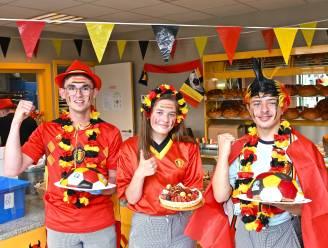 MSKA supportert voor de Rode Duivels met tricolore zoetigheden