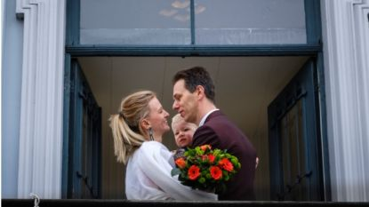 Liefde in tijden van corona: Lies en Bjorn geven ja-woord, gelukwensen van familie vanop afstand