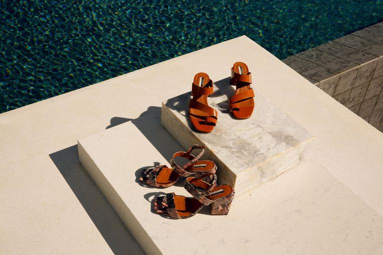 Een campagnebeeld van de vegan schoenencollectie van Topshop.