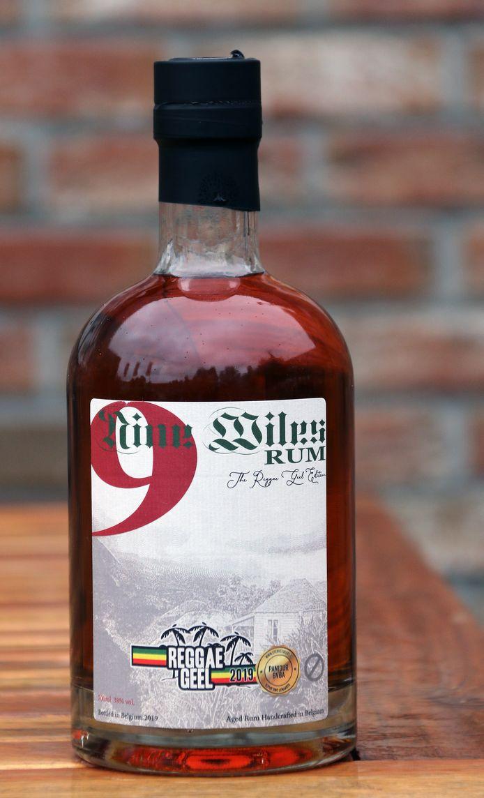 De nieuwe rum 'Nine Miles'.