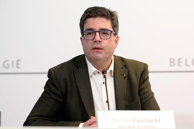 Sciensano-viroloog Steven Van Gucht. Beeld BELGA