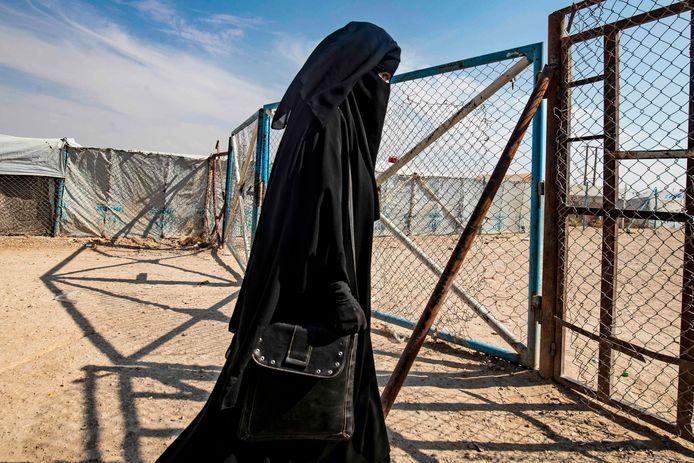 Une femme le camp de réfugiés d'Al-Hol (illustration).