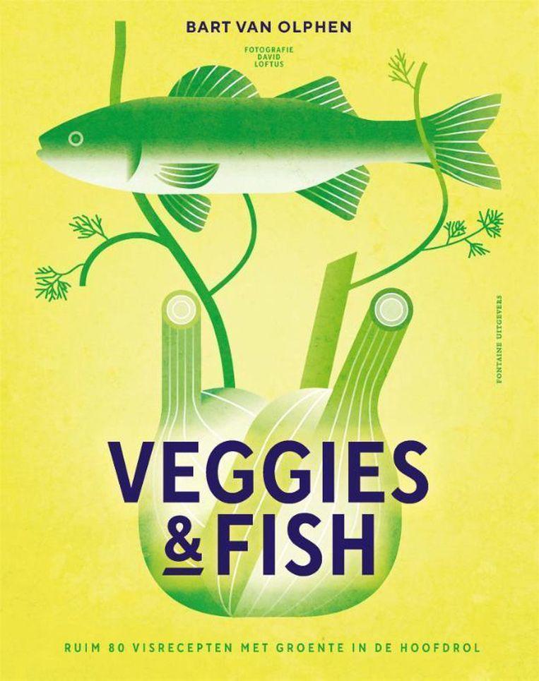 Veggies and fish Beeld