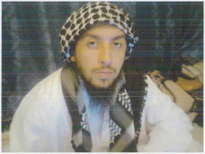 Ahmed Daoudi op een foto uit het dossier tegen Shariah4Belgium