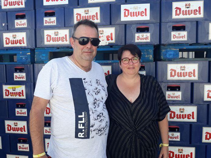 Stefan Schoepen dan Sandra Lodders selama perayaan 150 tahun Duvel Moortgat.