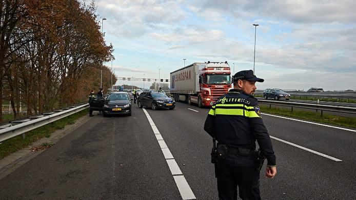 De politie op de plaats van het ongeval.
