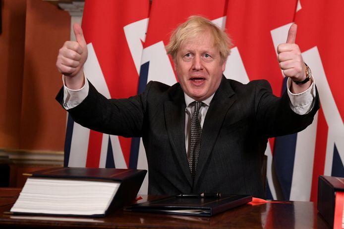 Britse premier Boris Johnson.