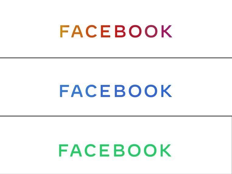 Blauw staat voor Facebook, groen voor Whatsapp en roze voor Instagram.