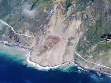Landverschuiving verwoest mooiste snelweg van Amerika
