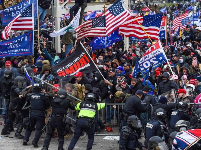 Ongeziene chaos in Washington: menigte dringt Capitool binnen, neergeschoten betoger overleden