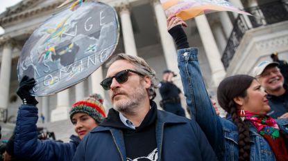 Joaquin Phoenix voert actie met Jane Fonda voor klimaat