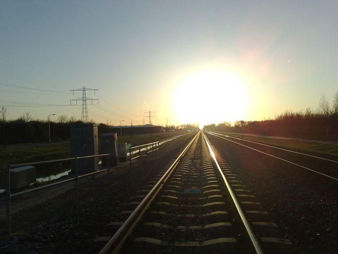 De Betuwelijn nabij station Zetten-Andelst